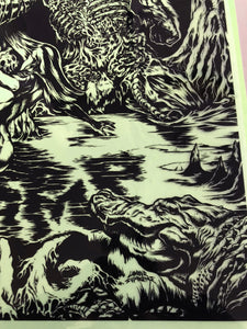 LAmour Supreme Swamp Savagery Silk Screened Print