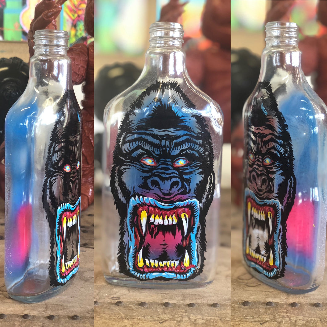 Hand Painted Liquor Bottle Collection Gorilla