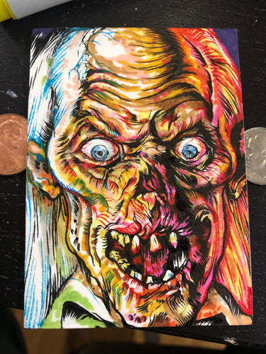 "2.5""X3.5"" Crypt Keeper Sketch Card"
