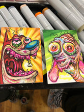 "Load image into Gallery viewer, 2.5""x3.5""  2 Original Sketch Card Set"