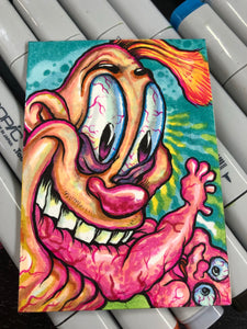 Jimmy The Idiot Eating A Baby Sketchcard