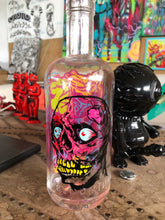 Load image into Gallery viewer, Reverse Painted Bottle Skully Round 2