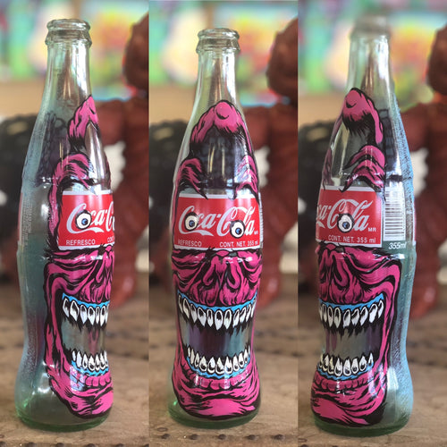 Coca Cola Hand Painted Bottle Peter