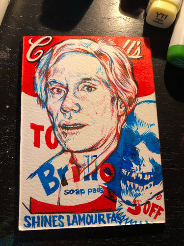 "Andy Sketch Card 2.5""X3.5"" by LAmour Supreme"