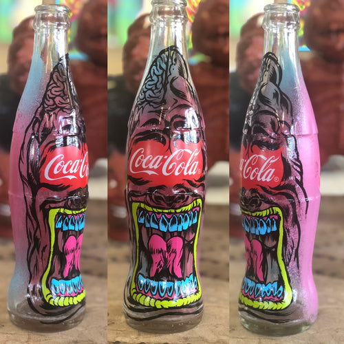 Coca Cola Hand Painted Bottle Steve