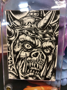 Original Orc Commander Sketch Card by LAmour Supreme