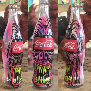 Coca Cola Hand Painted Bottle Collection Sharon