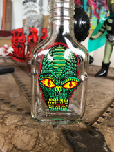 Load image into Gallery viewer, Reverse Painted Bottle Alien Round 2