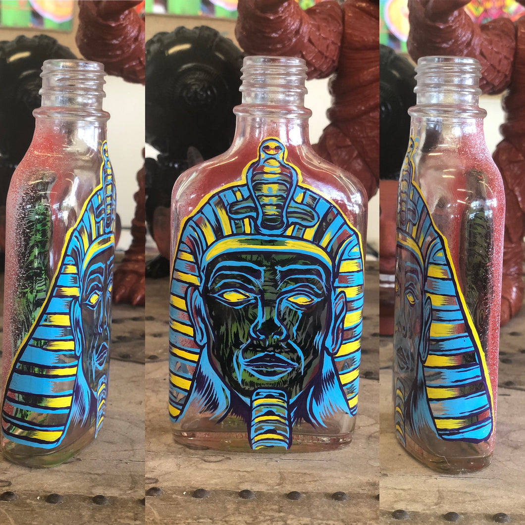 Hand Painted Bottle Collection Pharaoh