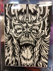 Original Lich King Sketch Card by LAmour Supreme