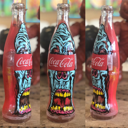 Coca Cola Hand Painted Bottle Fred
