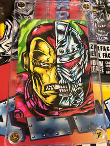 Iron Man X Czarface Original Sketchcard