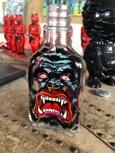 Reverse Painted Bottle Gorilla Round 2