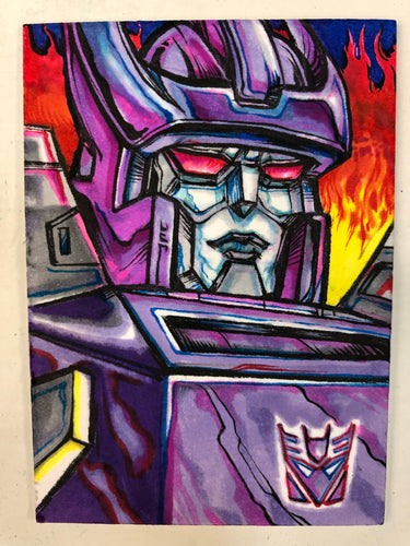"2.5""X3.5"" Original Galvatron Sketch Card"