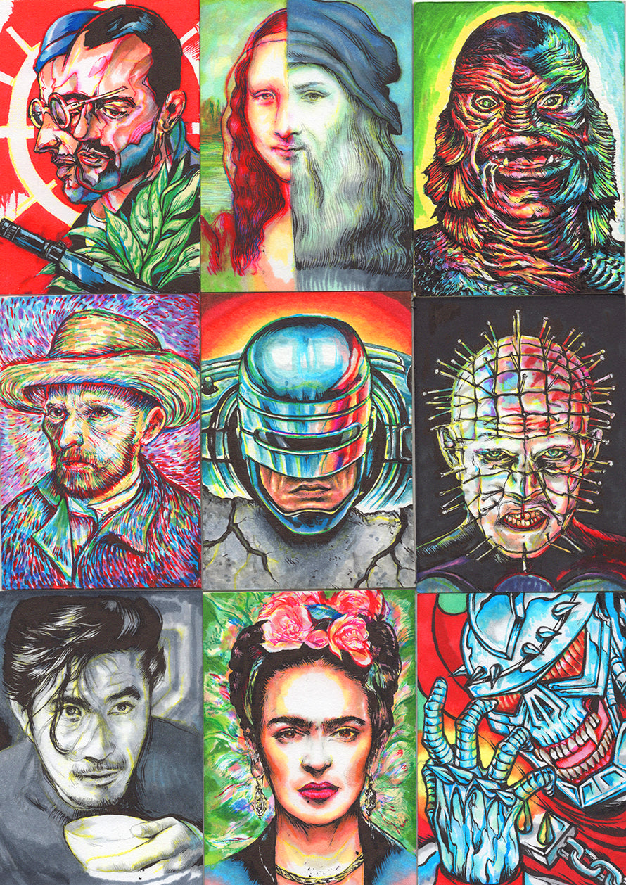 Custom Sketch Cards Round 3.