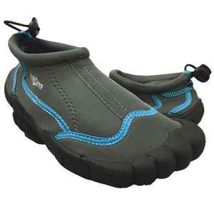 Ladies Footloose Water Shoes-Grey/Turquoise