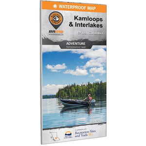 BRMB Kamloops & Interlakes BC Waterproof Map