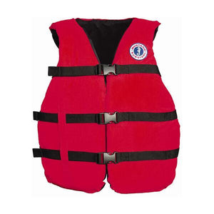 Mustang Survival Adult Universal Fit PFD - Red