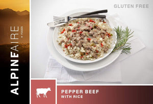 Alpenaire Alpineaire Pepper Beef with Rice camping