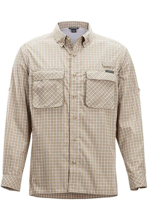 Exofficio Men's Air Strip Check Plaid Long Sleeve Shirt clothing