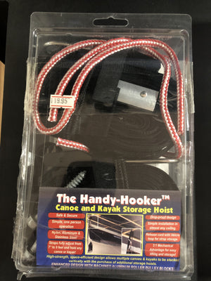 The handy-Hooker (kayak and canoe storage hoist)