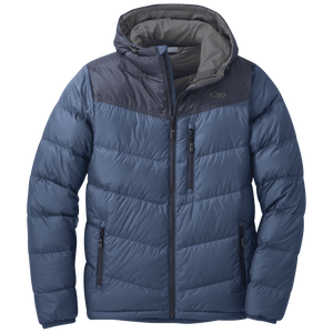 Outdoor Research Outdoor Research Men's Transcendent Down Hoody 2018 Small / Dusk/Naval Blue clothing