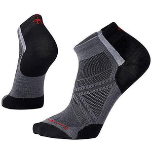 Smartwool Smartwool PhD RUN ultra light low cut sock large / graphite + black clothing