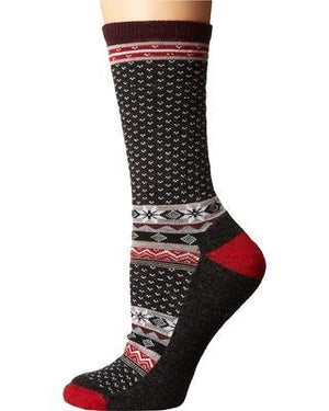 Smartwool Smartwool Women's Cozy Cabin crew sock charcoal heather / medium clothing