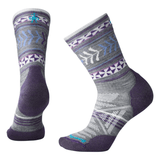 Smartwool Smartwool Women's PhD Outdoor light cushion crew sock small / pattern medium gray + purple clothing