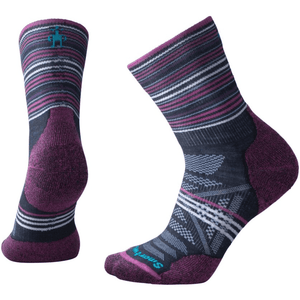 Smartwool Smartwool Women's PhD Outdoor light cushion mid crew sock pattern deep navy / medium clothing