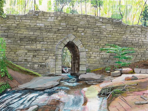 Historic Poinsett Bridge in South Carolina Small Print
