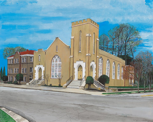 Historic Church - Pinckney Street, Greenville SC Large Print