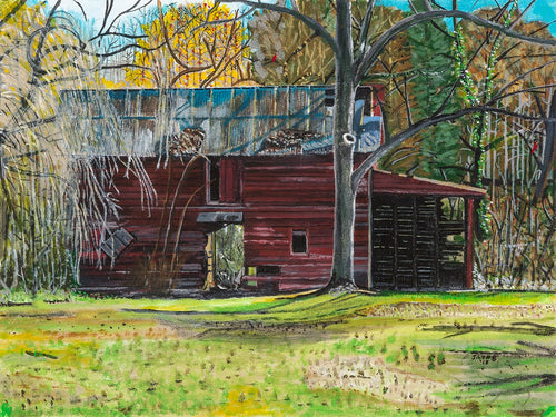 Roe Ford Barn Large Print