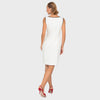 JOSEPH RIBKOFF // 192377 DRESS WITH MICRO DOT TRIM
