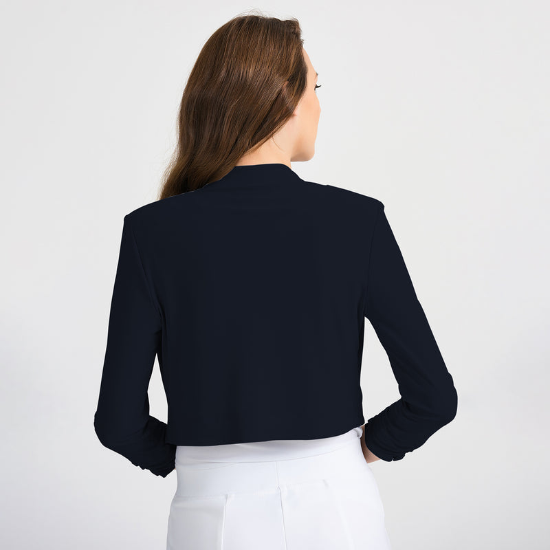 JOSEPH RIBKOFF // 201106 CROPPED BOLERO MIDNIGHT BLUE