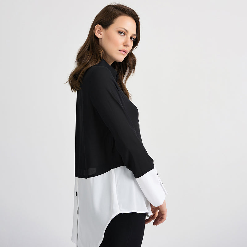 JOSEPH RIBKOFF // 201173 BUTTON-UP TOP