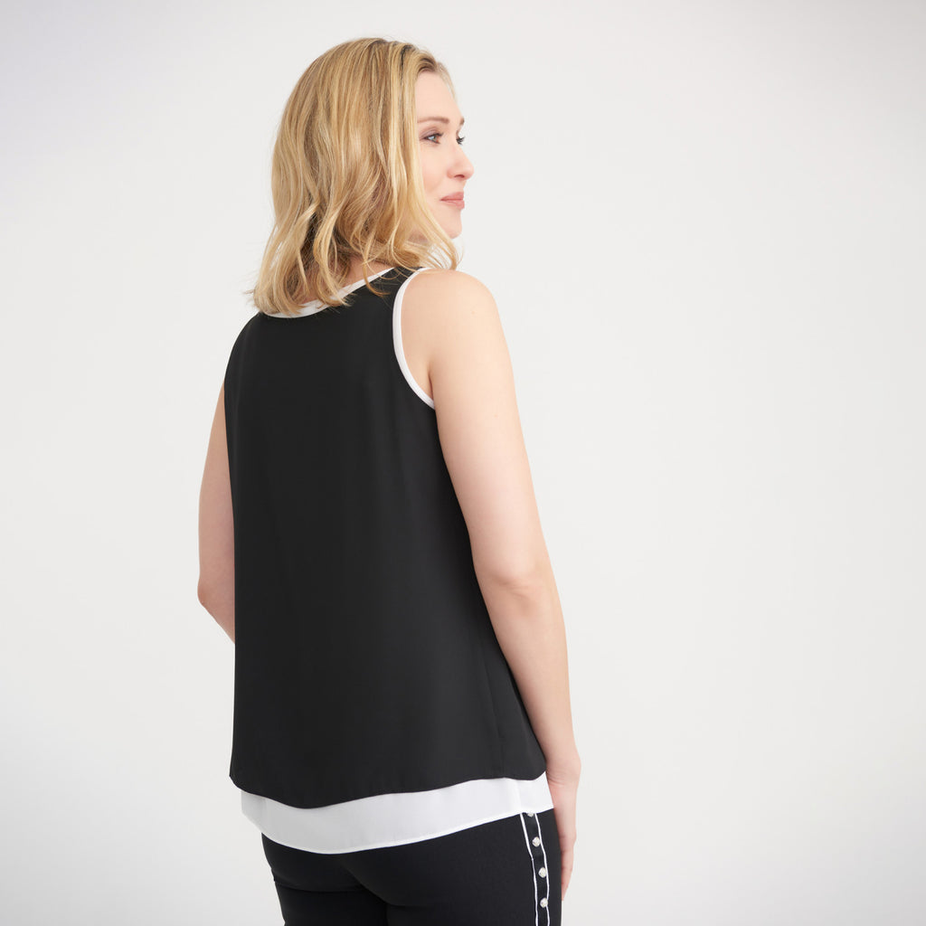 JOSEPH RIBKOFF // 203198 LAYERED SLEEVELESS TOP