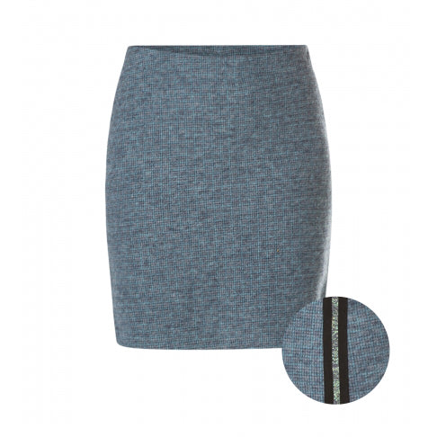 YEST // 32858 WOVEN PENCIL SKIRT WITH SIDE STRIPE