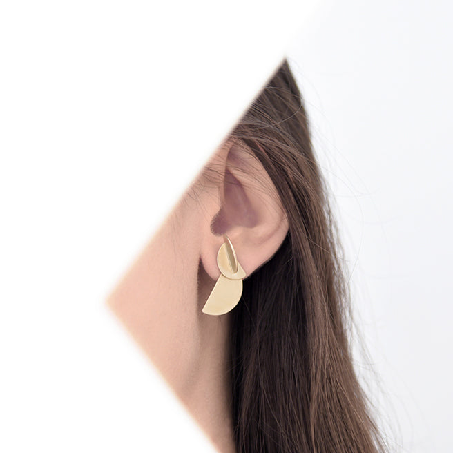 PURSUITS // 41142-SG DEMI JUNCTION EAR JACKETS GOLD