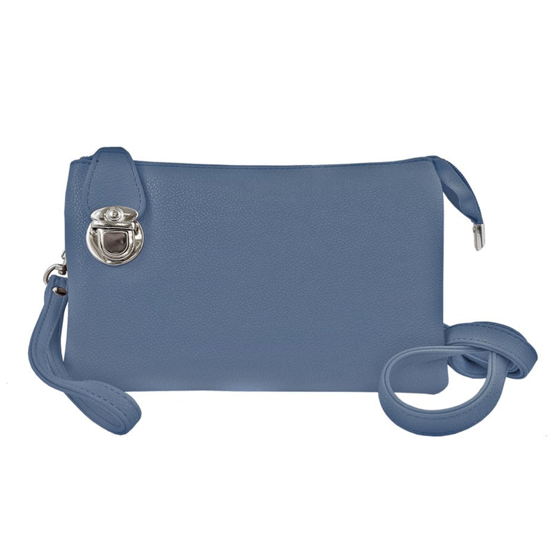 CARACOL // 7011-BLU CONVERTIBLE CLUTCH