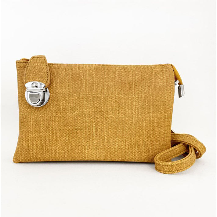 CARACOL // 7011-YEL-L CONVERTIBLE CLUTCH LINEN