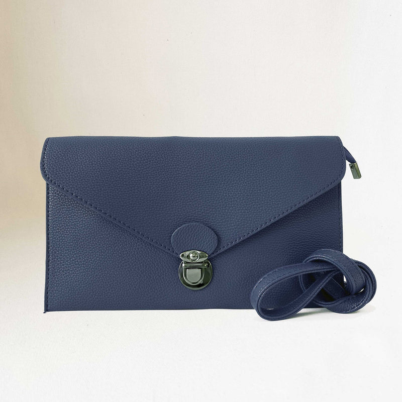 CARACOL // 7067-BLU CONVERTIBLE CLUTCH