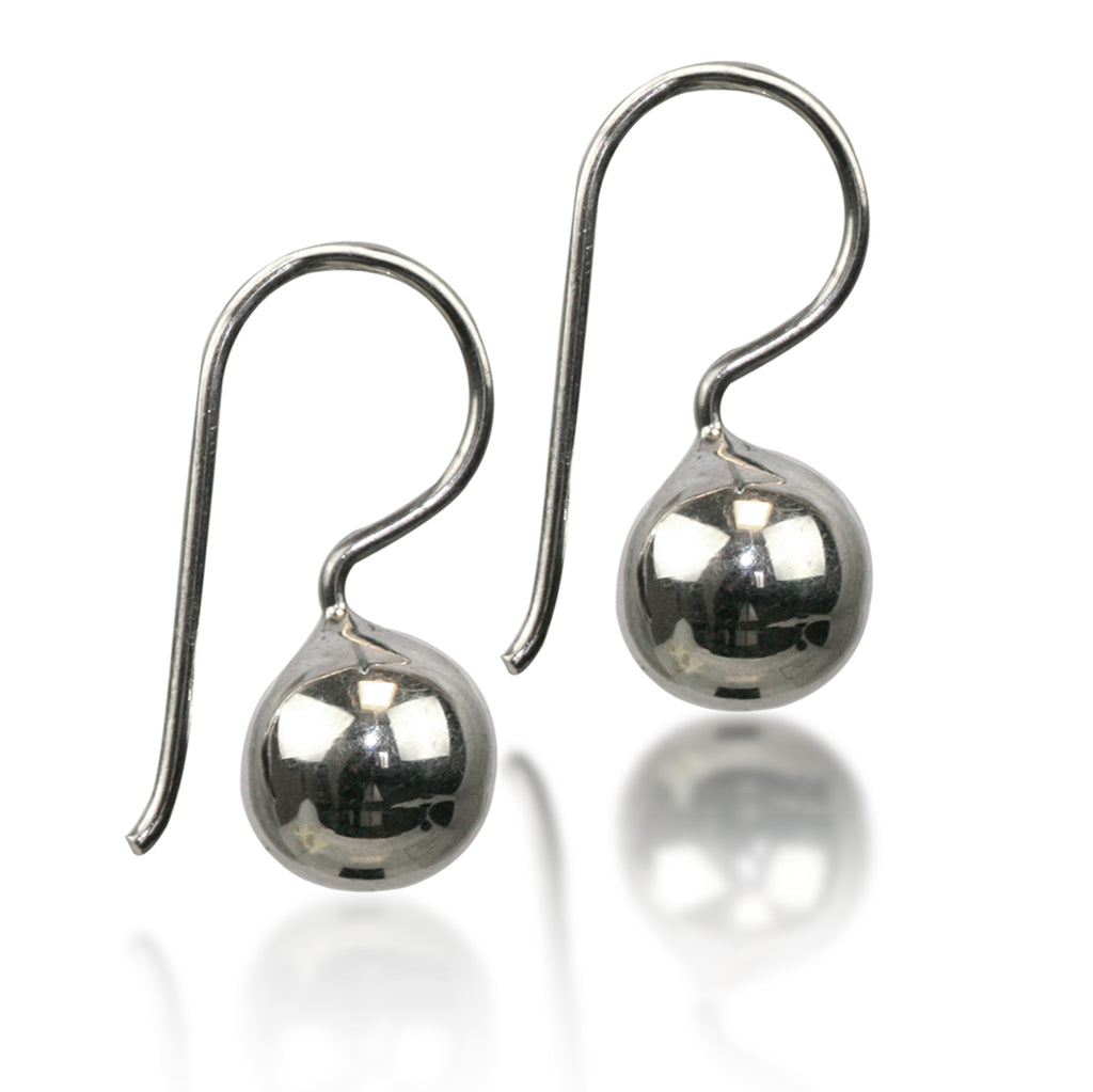 SILVER SA // 8mm BALL EARRING
