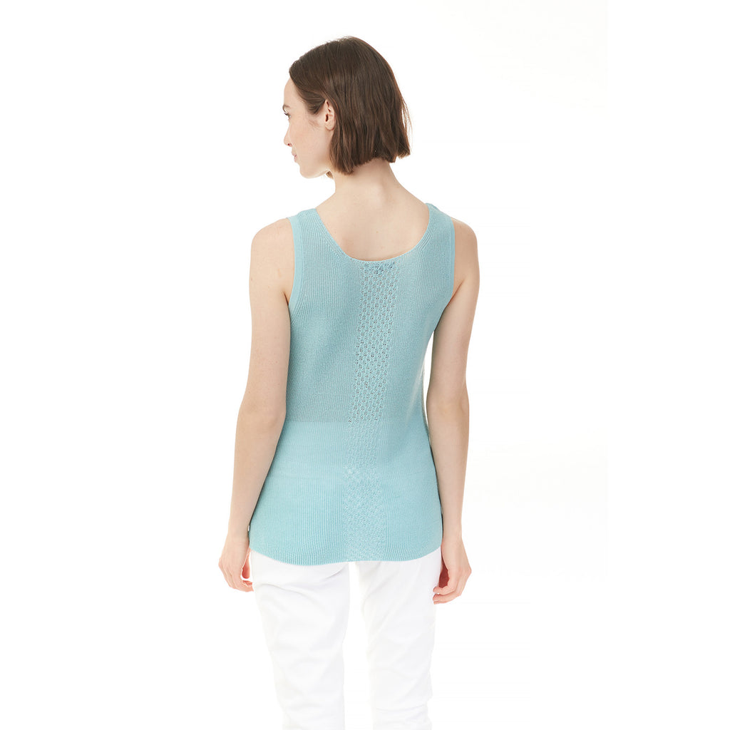 CHARLIE B // 2328 SLEEVELESS KNIT TOP