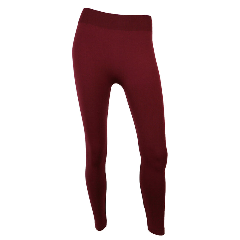 C'EST MOI // CEPFL-1007 FLEECE LINED LEGGING BURGUNDY