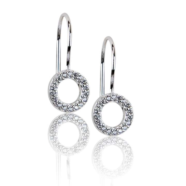 BAMIYAN SILVER // ECZ-7609 CUBIC ZIRCONIA EARRINGS