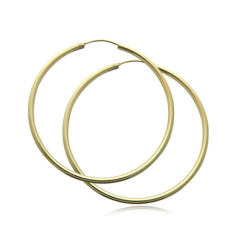 BAMIYAN SILVER // H23 50MM GOLD HOOPS