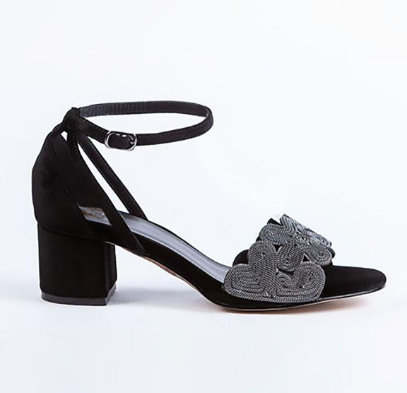 LITTLE EMPRESSES // MCA-5 DRESSY SANDAL BLACK