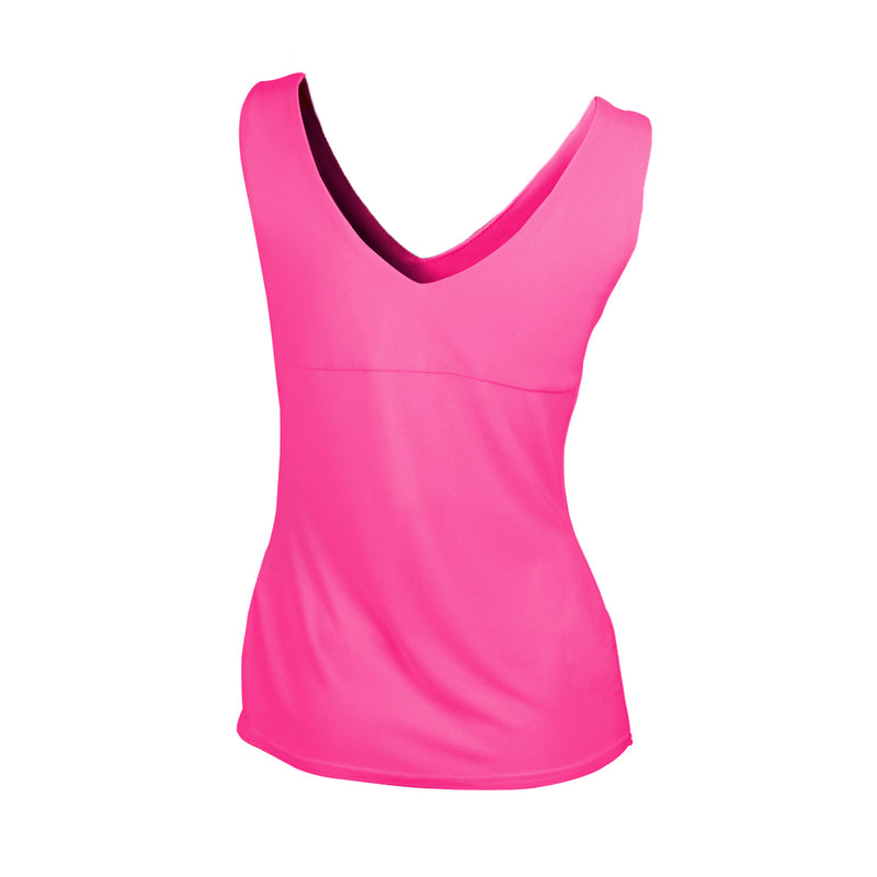 JOSEPH RIBKOFF // 34116 TAILORED TANK NEON PINK