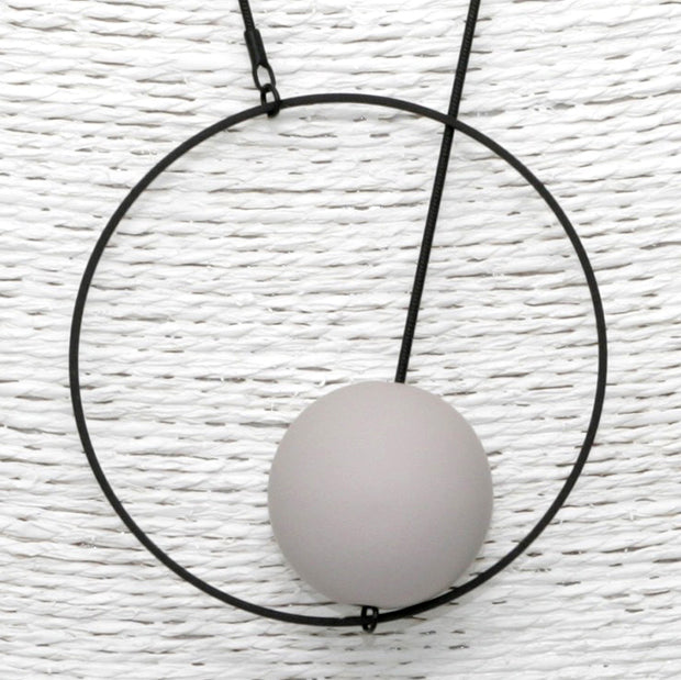 PURSUITS //  21502-BBH HALO + ORB NECKLACE BLACK